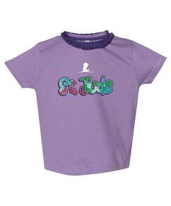 Toddler Ruffle Neck Purple T-Shirt