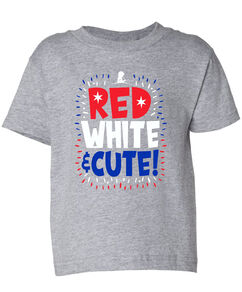Red White & Cute Toddler T-Shirt