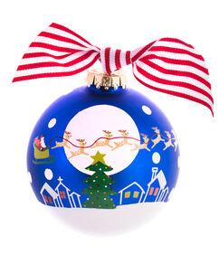 "Santa & Reindeer 4"" Ornament"