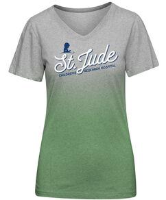 St. Jude Script Ombre Women's T-Shirt