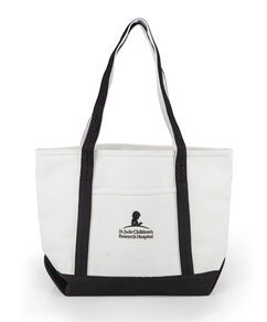 Canvas St. Jude Black Tote