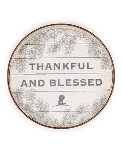 Thankful and Blessed Decorative Tray