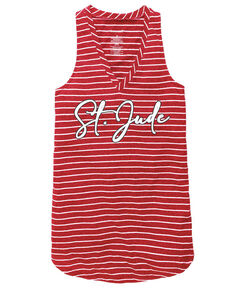 Women's St. Jude Red Stripe Tank