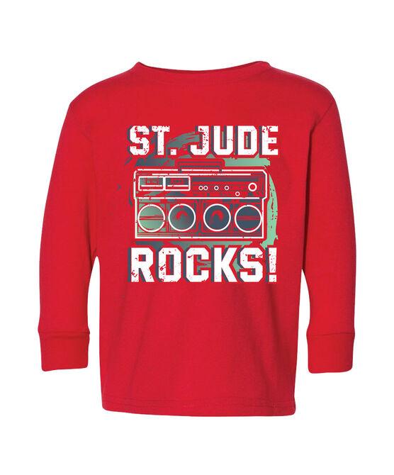 Toddler Red St. Jude Rocks Long Sleeve T-Shirt