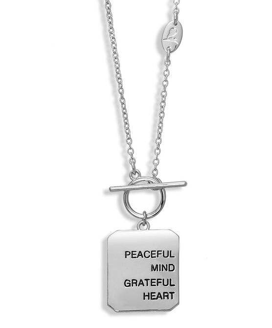 Silver Mind and Heart Necklace