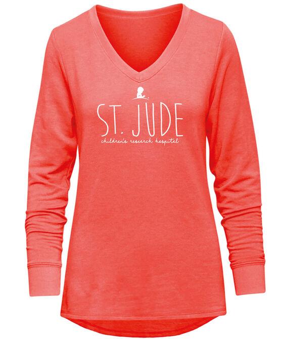 Women's Red St. Jude V-Neck Pullover