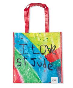 Patient Art I Love St. Jude Paint Splatter Reusable Bag