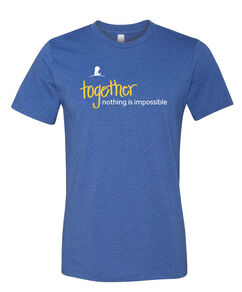 Together Nothing Is Impossible Blue T-Shirt