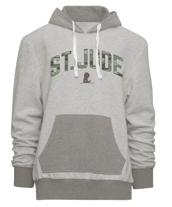 St. Jude Camo Grey Fleece Hoodie Pullover