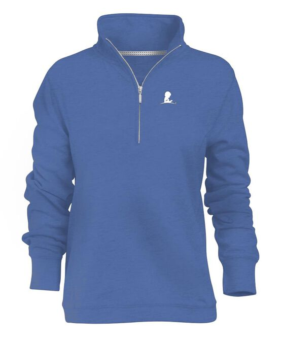 Ladies 1/4 Zip French Terry Pullover