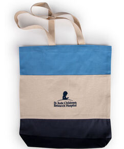 Colorblock Canvas Bucket Tote