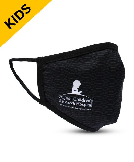 Black Tonal Arc Pattern KIDS Face Mask with Filter Pocket