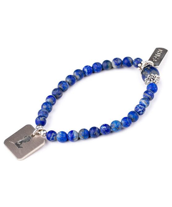 Royal Blue Lapis Bead Bracelet