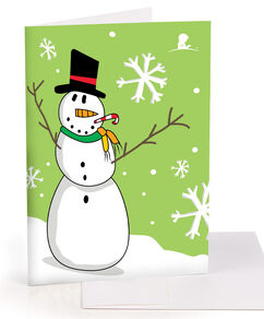 Fun Snowman Greeting Card - Set of 10