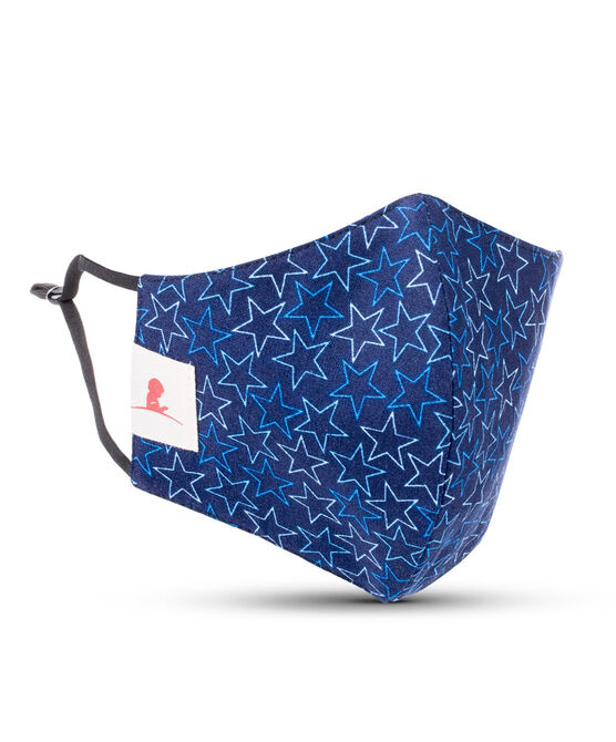 Adult Blue Stars 2-ply Cotton Mask with Adjustable Straps