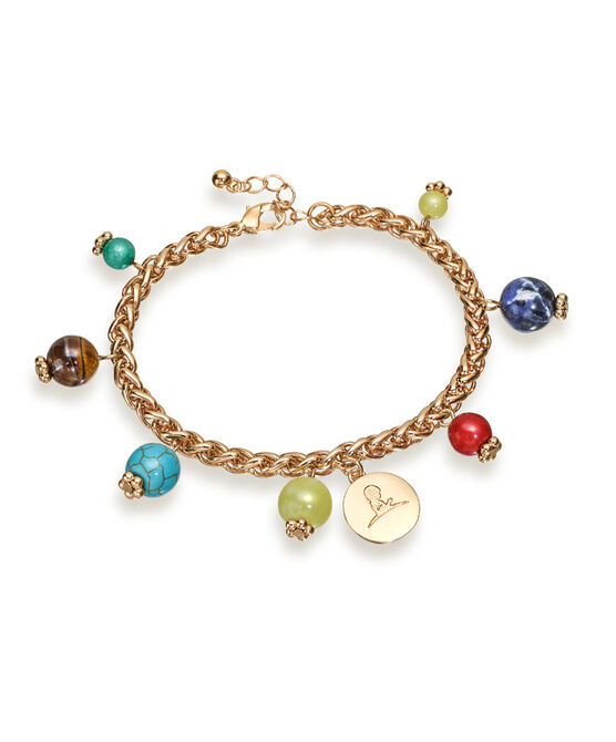 Gold Multi-Color Bead Bracelet