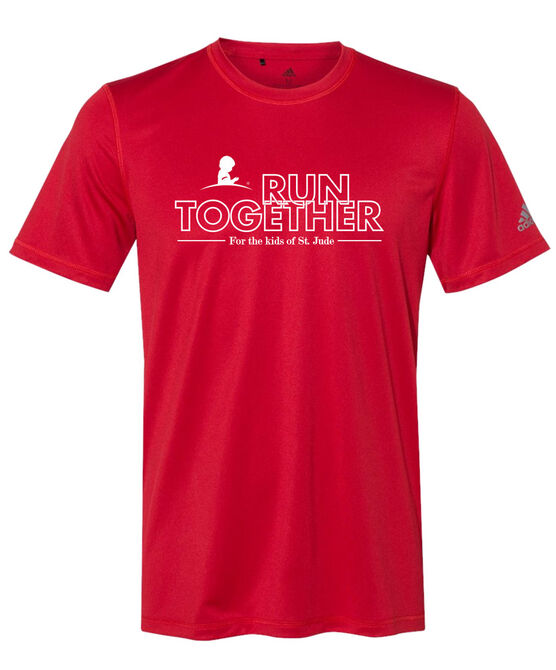 Unisex Adidas Run Together Performance Red T-Shirt