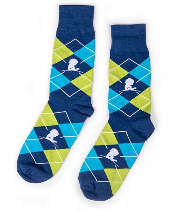 Blue & Green Argyle Socks