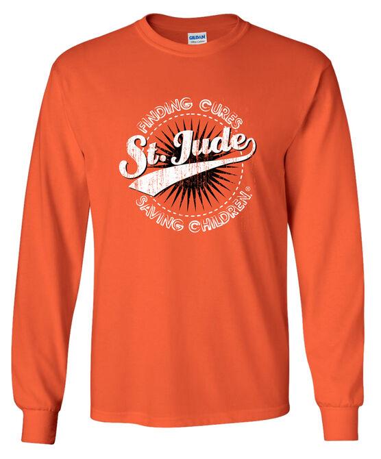 Youth Starburst Orange Long Sleeve T-Shirt