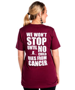 Unisex Burgundy We Won't Stop Stacked Design Long Sleeve T-Shirt