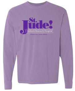 Retro Lavender Long Sleeved St. Jude T Shirt