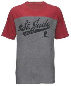 Unisex St. Jude Script Colorblock T-Shirt
