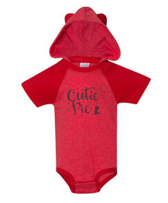 Cutie Pie Raglan Onesie with Hood & Ears
