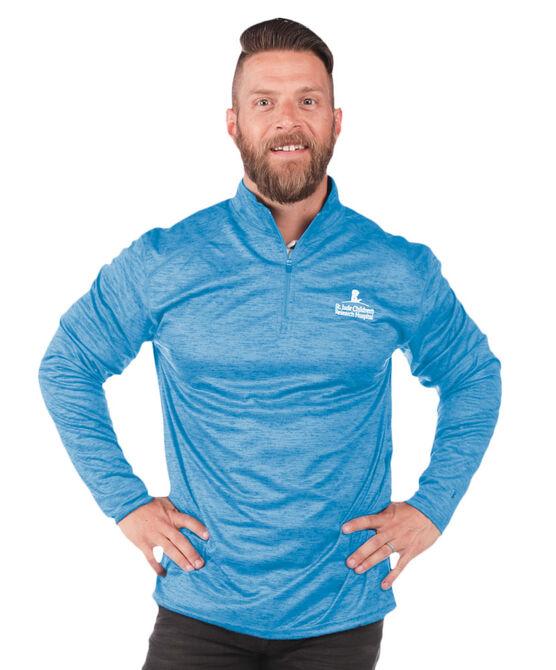 Men's Quarter Zip Performance Pullover - Columbia Blue