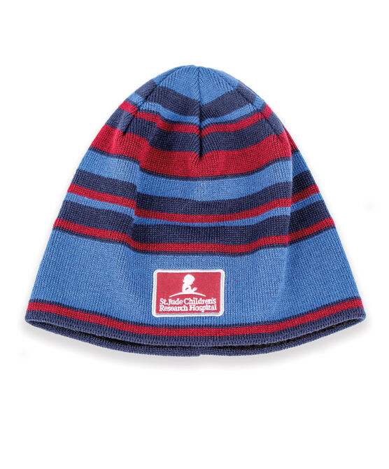 Fleece Lined Stripe Beanie