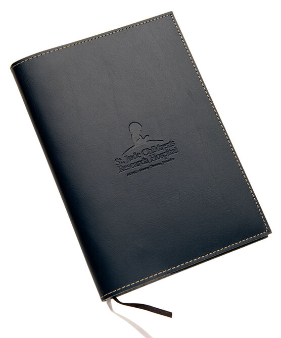 Leather Mini Journal- Navy