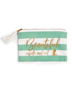 Beautiful Inside and Out Cosmetic Bag