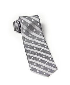 Brooks Brothers® Silk Gray & White Stripe Tie