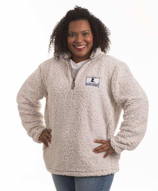 Attractive Ladies' Quarter Zip Sherpa Pullover - St. Jude Gift Shop QB57