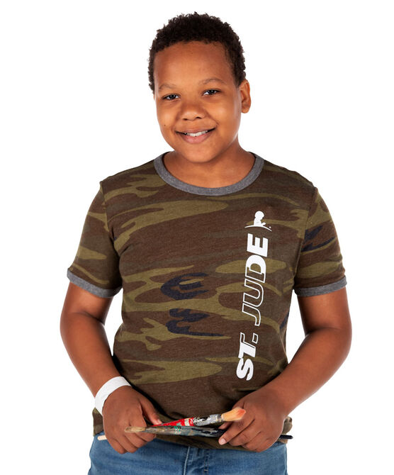 Youth Vintage Camo Ringer T-shirt