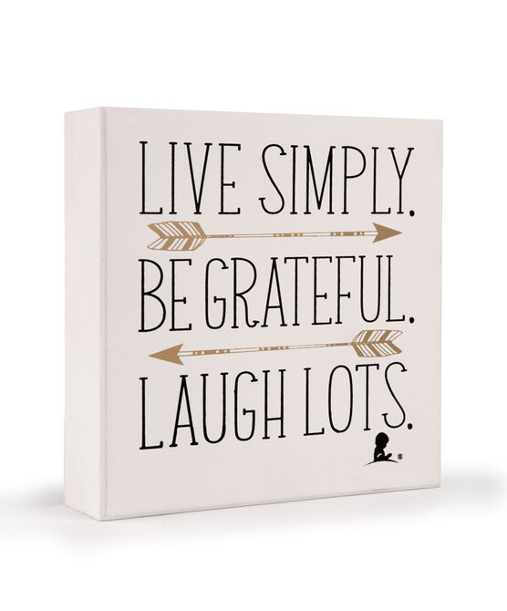 Live Simply Box Sign