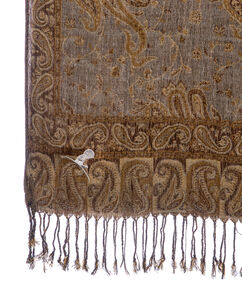 Pashmina Scarf - Brown & Gold
