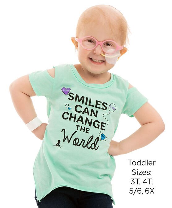 Toddler Smiles Can Change Cold Shoulder T-Shirt