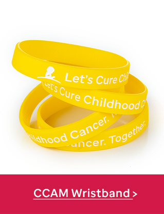 Let's Cure Childhood Cancer. Together Wristband