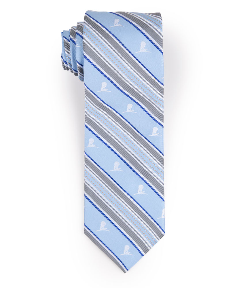 Brooks Brothers Grey and Blue Stripe Tie
