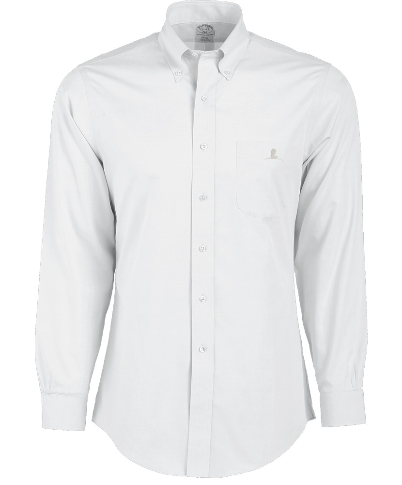 Brooks Brothers White Long Sleeve Buttun Up St Jude Gift Shop