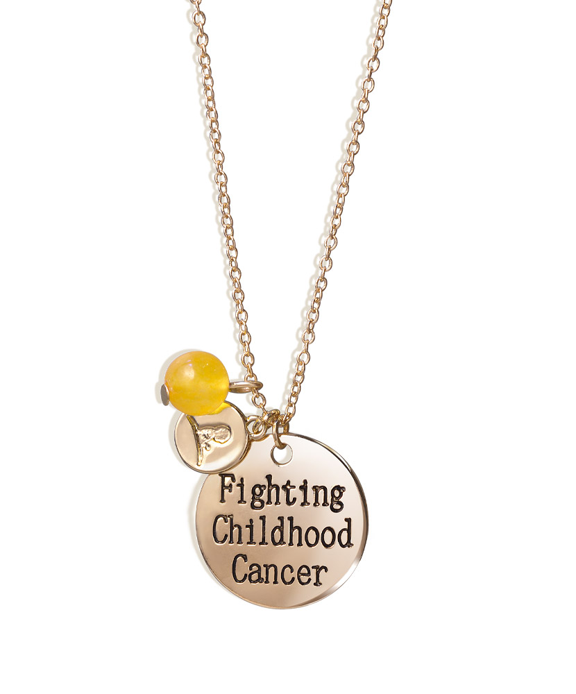Fighting Childhood Cancer Gold Necklace