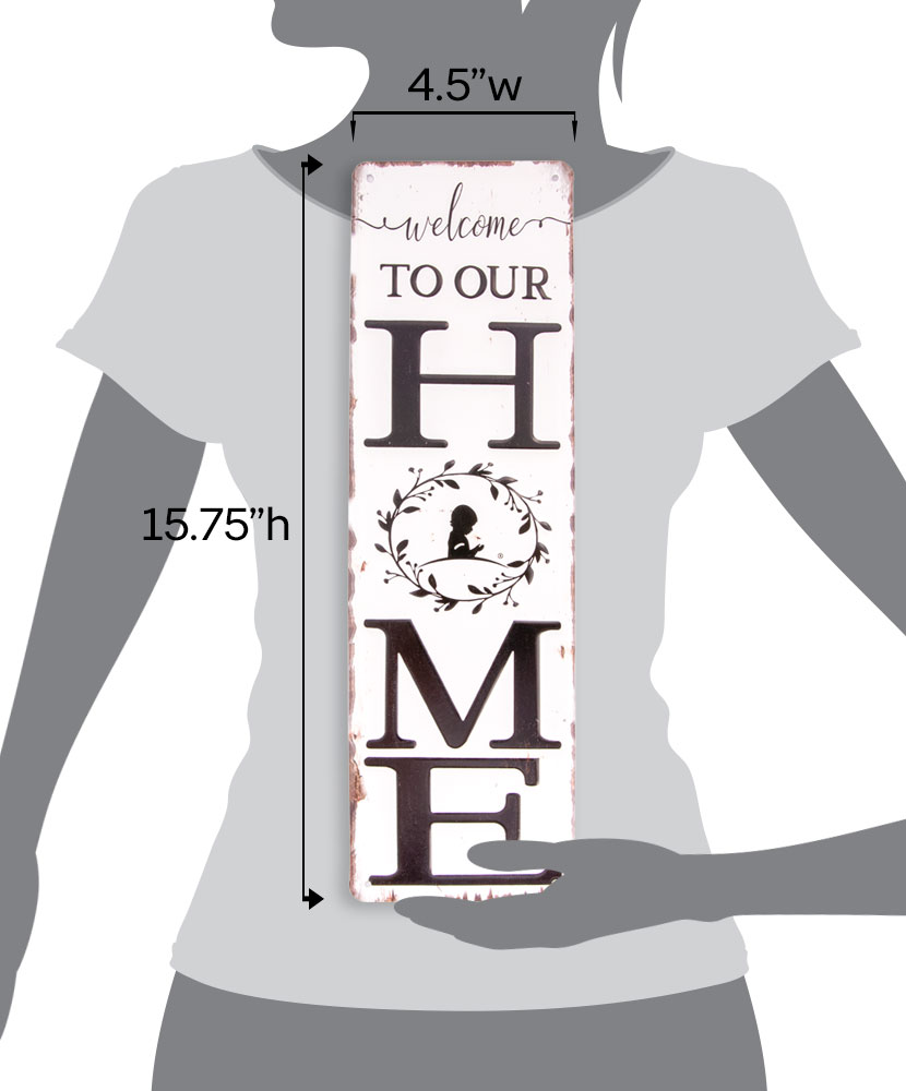 Farmhouse Welcome to Our Home Metal Sign