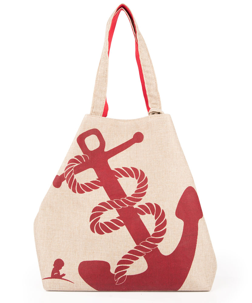 Anchor Canvas Tote and Accessory Bag