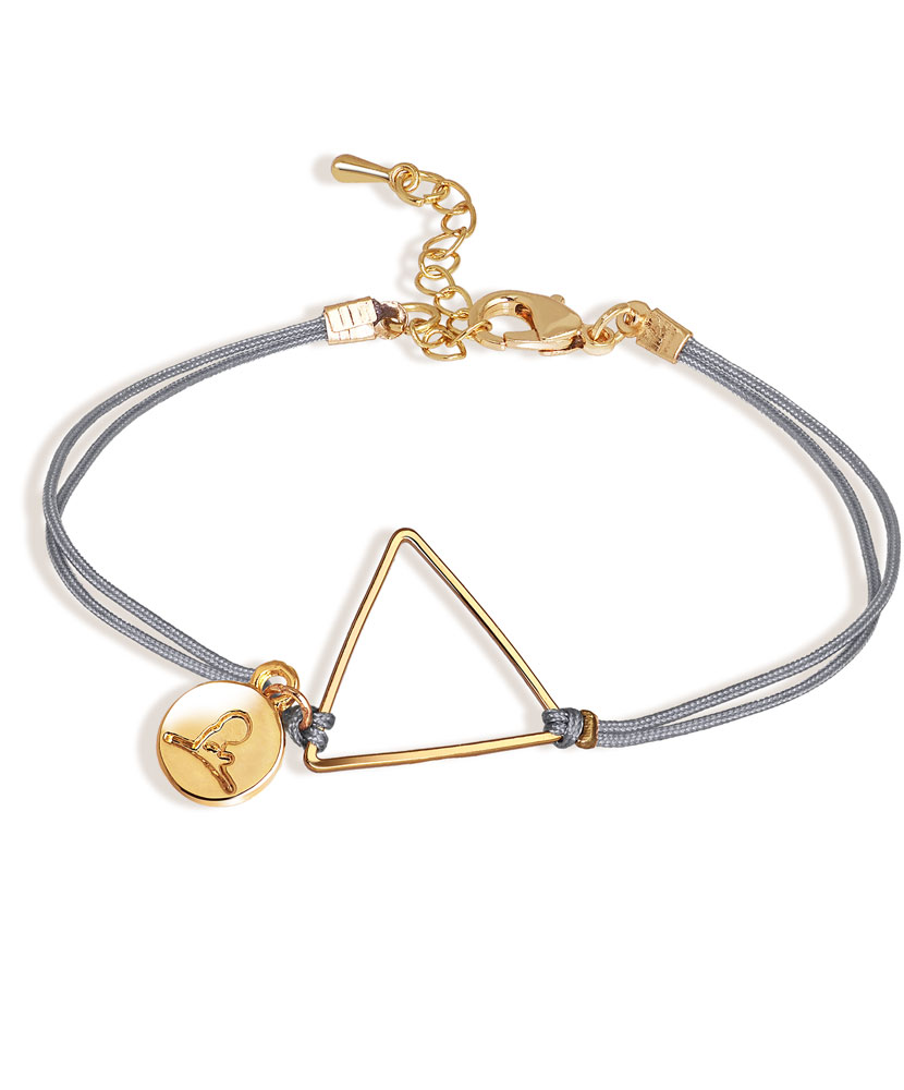 Delicate Gold Triangle Cord Bracelet