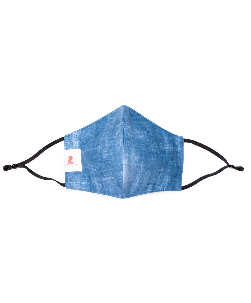 Adult Denim 2-ply Cotton Mask with Adjustable Straps