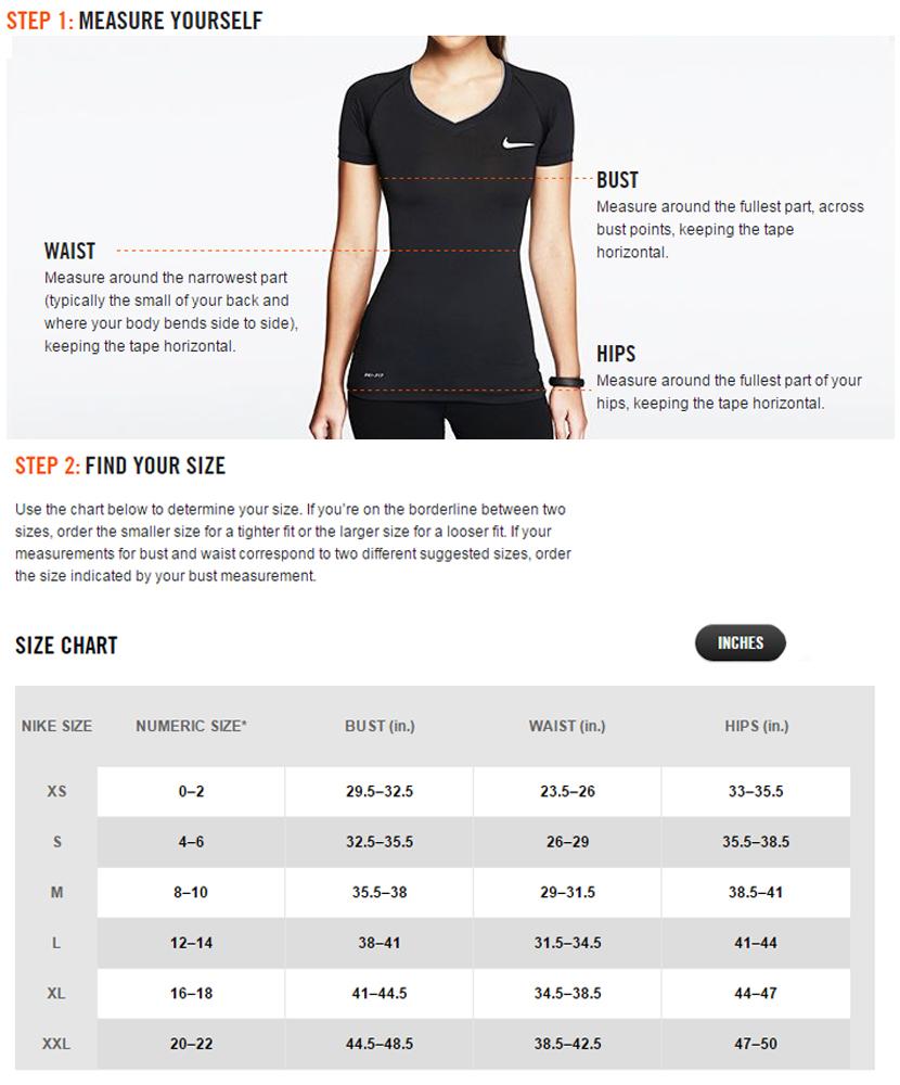 Nike Youth Basketball Jersey Size Chart