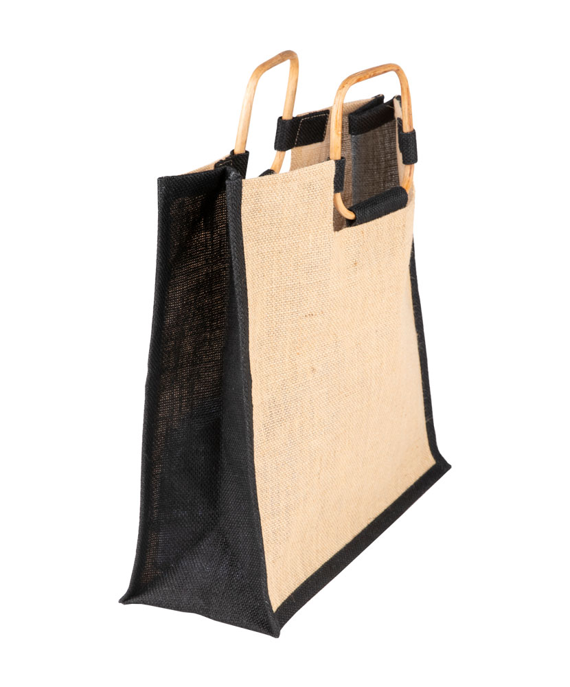 Jute Square Handle Tote