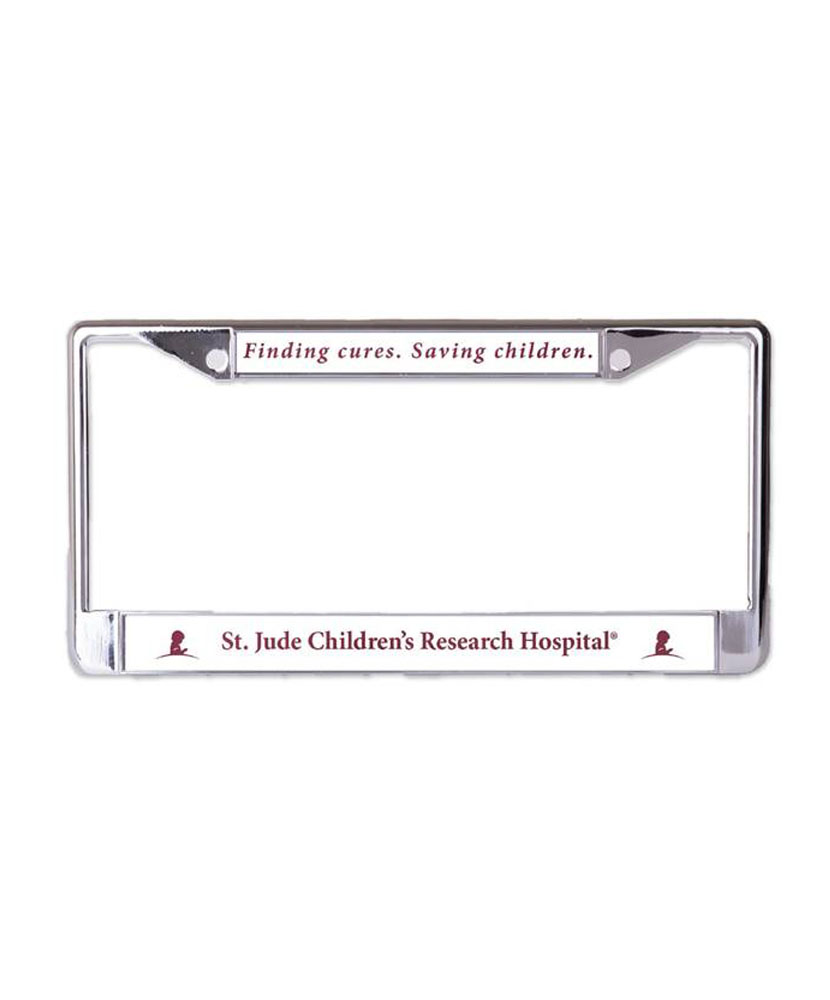 Metal License Plate Frame - St. Jude Gift Shop