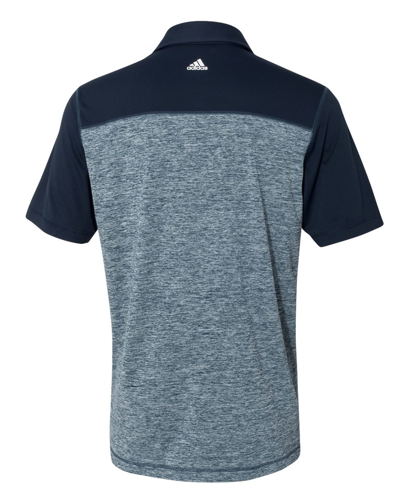 Adidas® Heather Colorblock Golf Polo
