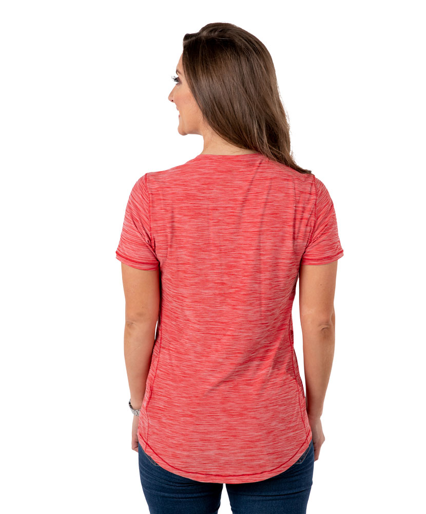 Adidas Women's Performance Heather Red T Shirt